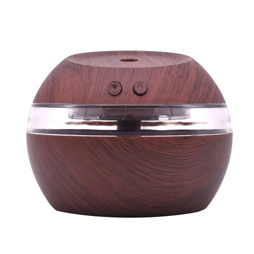 Humidificador USB Aceite Difusor de aroma 300ml Cool Mist Maker Luces LED Luz de noche para el hogar