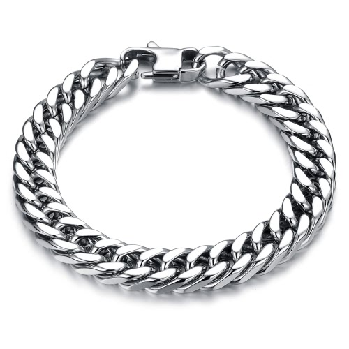Hot Fashion Punk Style Men's Classical Biker Chain Bracelet 316L Stainless