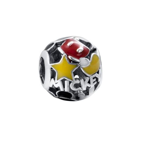 Romacci S925 plata lindo encantador Ronda estrellas encanto bolas de 3mm pulsera brazalete moda DIY mujeres amor joyas regalo accesorio