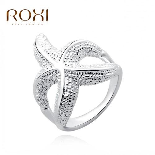 ROXI plata aleación plateado estrellas hermoso anillo mujeres novia boda compromiso joyas accesorio manera