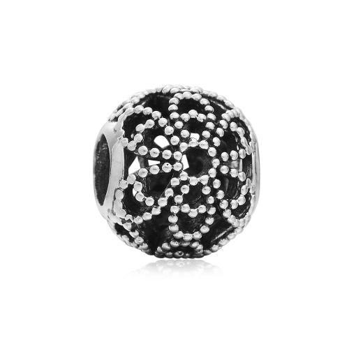 Romacci S925 plata hueco flor encanto grano para cadena de la serpiente de 3mm DIY pulsera brazalete collar moda mujer joyas accesorio