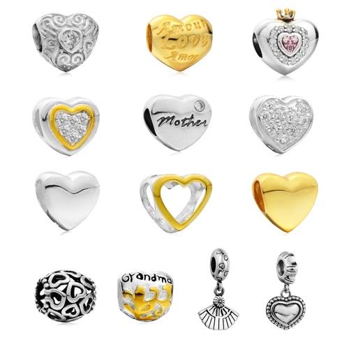 Romacci S925 серебряное сердца любовь шарик очарование женщин штраф DIY ювелирных аксессуаров для европейских 3 мм змея цепи браслет браслет колье