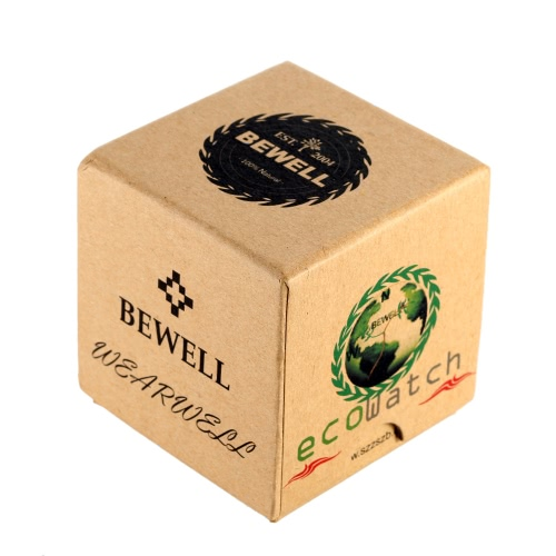 Bewell Mini Square Cardboard Watch Box Wristwatch Case Cute Jewelry Box Gift Box Multifunctional Storage Box