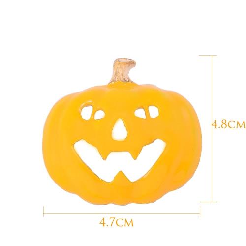 Neue Art und Weise Halloween-Kürbis-Brosche Kragen Pin Kleidung Accessoires Schal Schnalle Charm Schmuck Nizza Urlaub für Frauen-Dame-Party-Geschenk