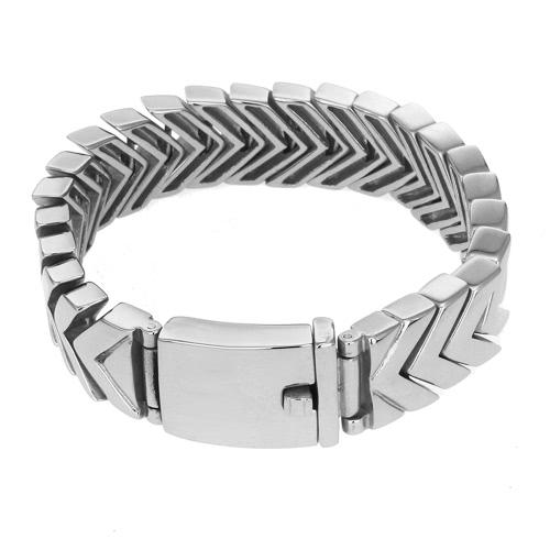 Image of Neue Art und Weise Charme des Mannes Männliche Edelstahl-Stulpe-Armband-Armband-Ketten-Armband-Schmucksachen für Band-Partei