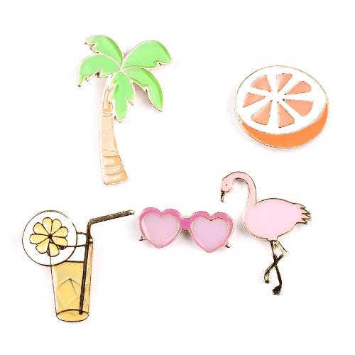 Ropa joyería de moda collar precioso linda camisa broche insignia Conjunto Clip Pin accesorio para las mujeres regalo de la decoración de los niños