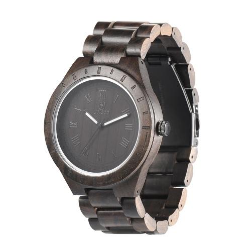 UWOOD modische Art männlicher Mann-Marken-Luminous Analog-Qualitäts-Holz Holz Uhr-Quarz-Geschäfts-Armbanduhr