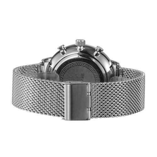 SKONE 2016 Brand Fashion Luxury Full Steel Men Casual Wristwatch Calendar Waterproof Mans Business Dress Watch W/ Sub-dials, TOMTOP  - buy with discount