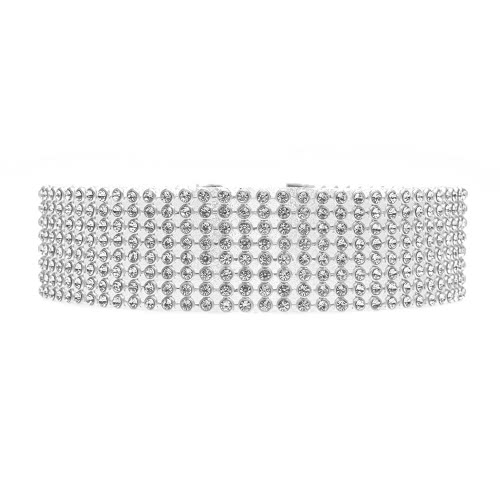 De manera transparente y de color del cristal del Rhinestone Gargantilla colgante collar de joyería y accesorios Declaración de la cadena para las mujeres del regalo del partido de las muchachas