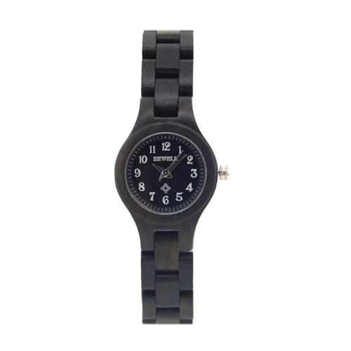 BeWell Top Marca de luxo senhoras Madeira Relógios Quartz Analog Moda pequeno discagem mulheres de madeira Casual relógio de pulso Feminino Relogio