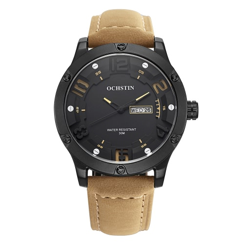 OCHSTIN GQ052 Luxus Leder Quarz Herrenuhr
