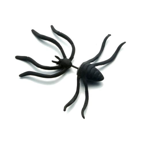 Punk Brinco Black Spider Ear Studs estilo engraçado estilo estranho brincos decoração jóias acessório para festa