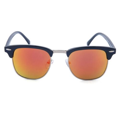 Moda Semi Rimless de moda de metal gafas de sol de color de la película de las mujeres Hombres retro gafas de sol