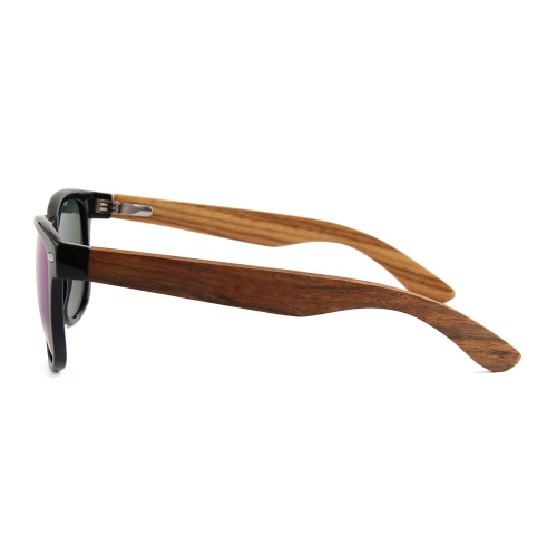 Fashion Wayfarer Natural Wooden Sunglasses with Polarized Lenses for Men and Women