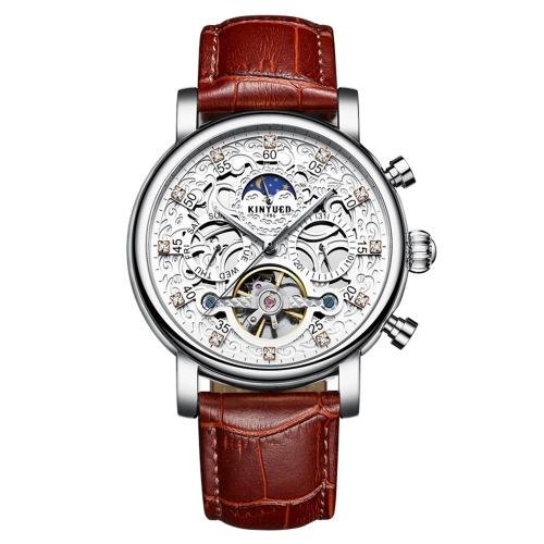 Reloj mecánico automático de lujo KINYUED Diamante