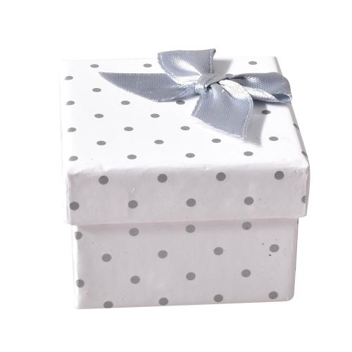 Joyería de moda Embalaje Collar Anillo Pulsera Lunares Caja de regalo del arco