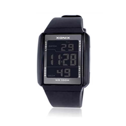 Große Ziffern-leuchtende LED Armbanduhr-Paar-Geschenke imprägniern Multifunktionssport-Digitaluhr