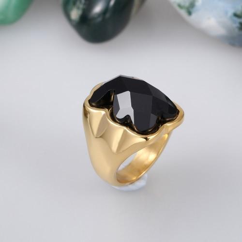 Little Bear anillo cristalino Artificial 316L