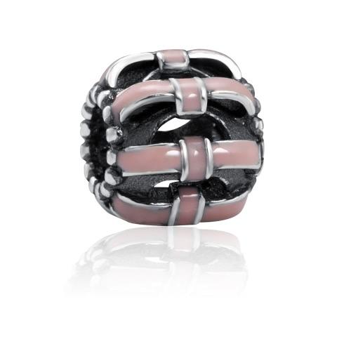 Romacci S925 Sterling Srebrny Śliczny emalię Christmas Charm Bead dla DIY Bransoletka
