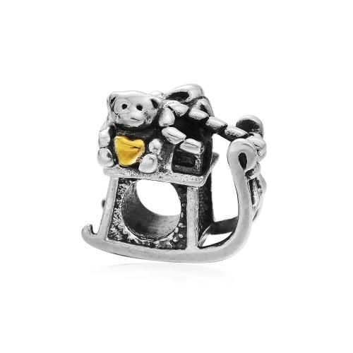 Romacci S925 plata amor oso coche grano encanto del corazón para las mujeres 3mm serpiente Europea cadena pulsera brazalete moda accesorio de la joyería DIY