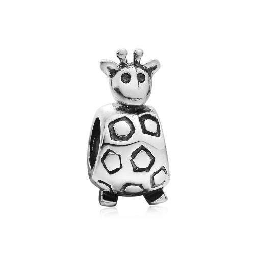 Romacci S925 plata tortuga Linda encanto Animal grano DIY accesorio para 3mm cadena pulsera brazalete collar joyería mujer