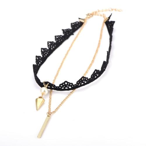 Cadena Gargantilla Negro de la moda del Nuevo Retro Señora accesorio de la joyería de regalo de las muchachas de las mujeres