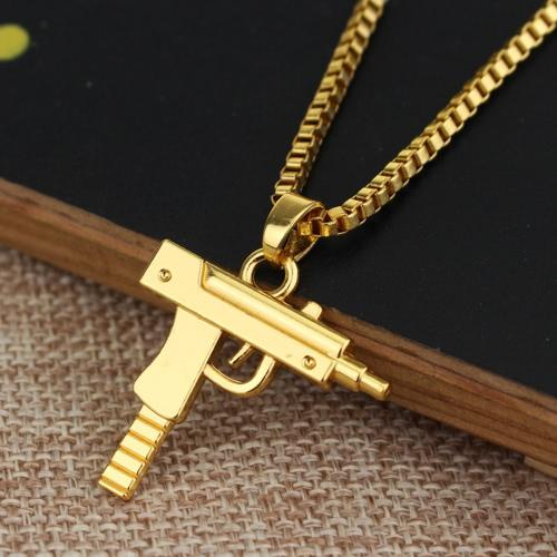 Moda Unisex Alloy Hombres Mujeres Hip-hop Collar Pistola Rifle cadena colgante para Chica Charms Chica Encantadora Party Band