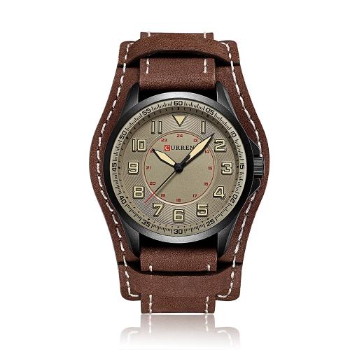 CURREN 2017 moda fresco a prueba de agua reloj de cuarzo de los hombres PU banda de lujo deportivo estilo hombre casual reloj de pulsera