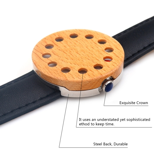BOBOBIRD Fashion Casual Wooden Watch Unisex Quartz Watch Genuine Leather Maple Wristwatch Men Women Relogio Musculino Feminino