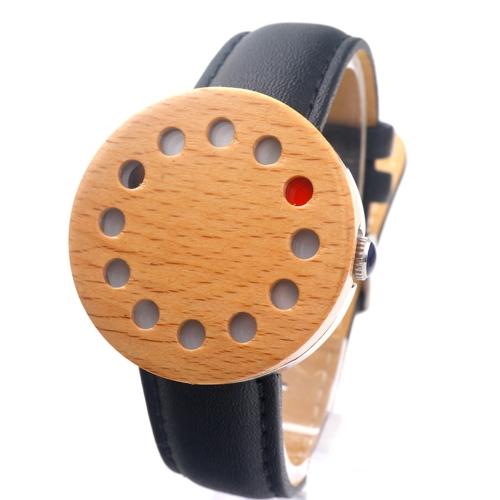 BOBOBIRD Moda Casual Zegarki drewniane Unisex Zegarek kwarcowy Oryginalny Skórzany Klon Zegarek na rękę Men Kobiety Relogio Musculino Feminino