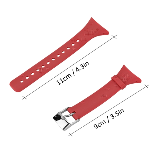 Outdoor Waterproof Rubber Watch Band Men's Watch-strap Steel Buckle with Screwdriver for SUUNTO M Serise
