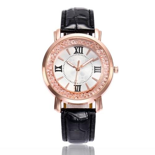 Moda semplice orologio che scorre perline da polso al quarzo stile casual per le studentesse