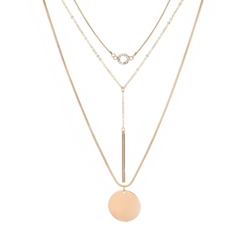 Fashion Multi-layer Pendant Clavicle Chain Long Necklace Different Lengths Jewelry Set for Women
