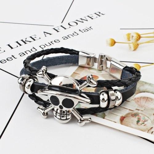 Mode schwarz Punk Skull Armband übertrieben Ghost Armband Charm Schmuck Geschenk