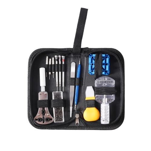 13PCS Watch Repair Tool Kit Household Case Opener Remover Screwdriver Spring Bar Watchband Link Pin Wristwatch Repair Multifunctional Tool Set