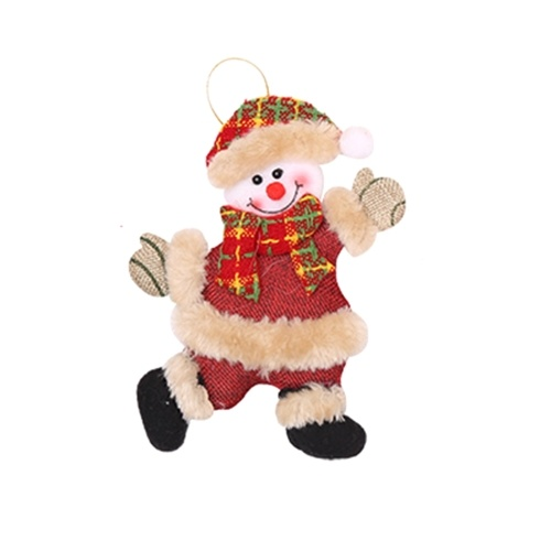 Christmas Ornament Snowman Cloth Doll