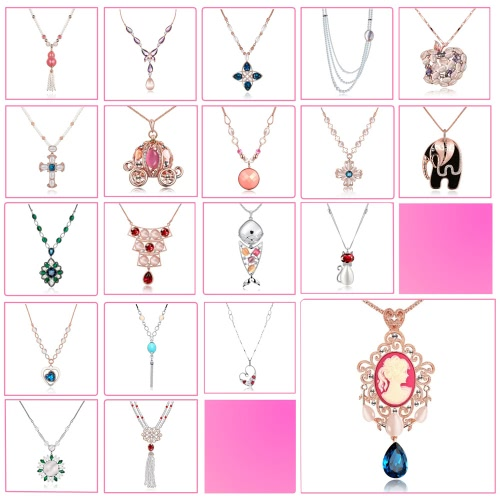 Viennois Gorgeous Cute Fish Pendant Long Sweater Chain Necklace for Women Jewelry Gift