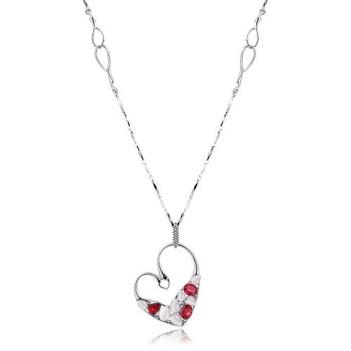 Viennois dulce amor corazón colgante moda mujer vestido suéter joyería del collar de cadena larga