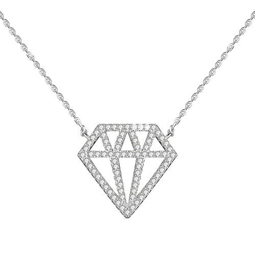 JURE S925 argento solido sterlina collana della catena The One Jewelry Zirconia 18 Inch