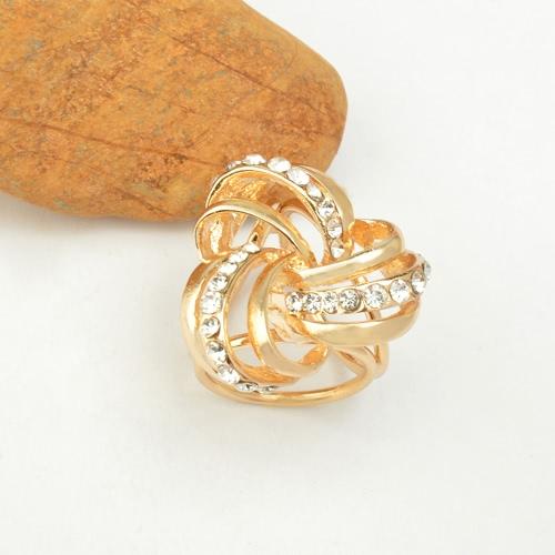 Fashion Zink Kristall Strass-Schal-Schal Schnalle Brosche Clip Ring Schmuck Accessoires für Frauen-Geschenk