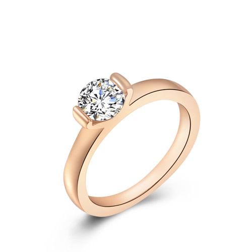 Roxi de alta calidad de la manera nuevo de la venta de la joyería del Rhinestone plateó el anillo de compromiso de la boda regalo de las mujeres