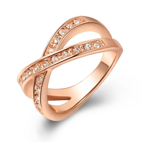 Roxi Moda Vintage Hot Sale Mulheres Jóias Zircon banhado a ouro anel de casamento presente de noivado