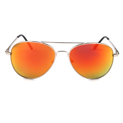 Moda Premium Full Mirrored metal aviador gafas de sol espejo lente UV400 para hombres y mujeres