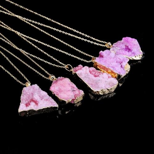 Colgante de cristal de piedra natural Collar Clavícula cadena suéter cadena para hombres Accesorio de joyería de las mujeres