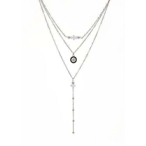 Moda Multi-camada Pingente Cadeia Clavícula Longa Colar Comprimentos Diferentes Conjunto de Jóias para As Mulheres