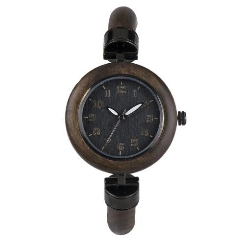 BEWELL ZS-W151A Женские Деревянные Часы Кварцевые Движения Старинные Повседневные Браслеты Браслеты Наручные Часы