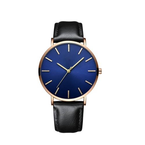 Les couples de mode imperméables ultra-minces de 6.5mm observe les montres simples d'affaires de loisirs hommes et femmes les montres à quartz générales