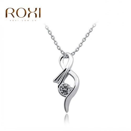 Ala del ángel encanto de cristal colgante collar cadena novia boda fino compromiso joyería de la manera mujeres ROXI