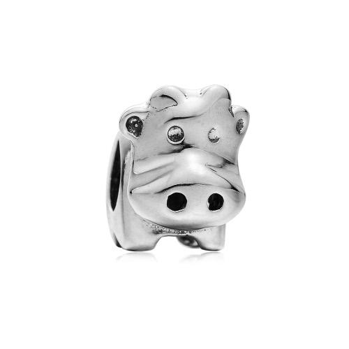 Romacci S925 plata vaca lindo grano encanto europeo para 3mm cadena pulsera brazalete collar accesorio de la joyería DIY moda mujeres
