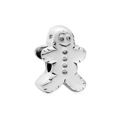 Romacci S925 plata lindo muñeco de nieve encanto grano de 3mm cadena pulsera brazalete collar moda Europea mujeres joyas accesorio